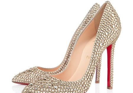 Rhinestone heels - Louboutin wedding Shoes