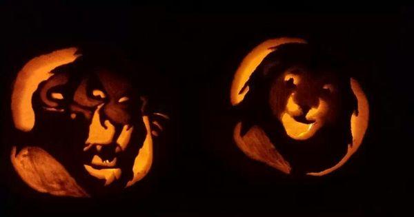 Halloween pumpkin carvings lion king pinterest