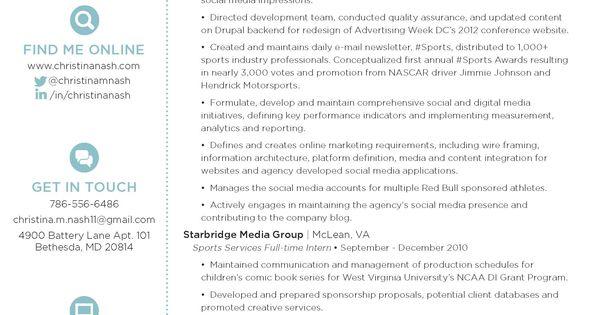 christina nash 39 s resume digital and social media