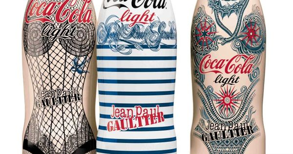 jean paul gaultier 39 s tattoo bottle for diet coke debuts in new campaign diet coke coke and. Black Bedroom Furniture Sets. Home Design Ideas