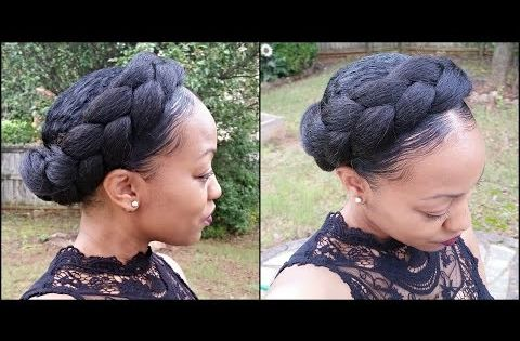 Pleasant How To Goddess Halo Braids With Bun Updo Tutorial On Short Natural Short Hairstyles For Black Women Fulllsitofus
