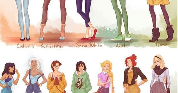 Modern Disney Princesses. I love some of the outfits!