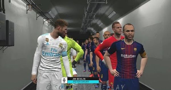 Pes 2018 Barcelona Vs Real Madrid International Cup 2017 Full