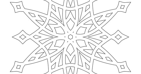 detailed christmas coloring pages half dozen 8x8 inch snowflakes to color use as digital stamps for silhouettes scherenschnitte pinterest - Mandala Snowflakes Coloring Pages