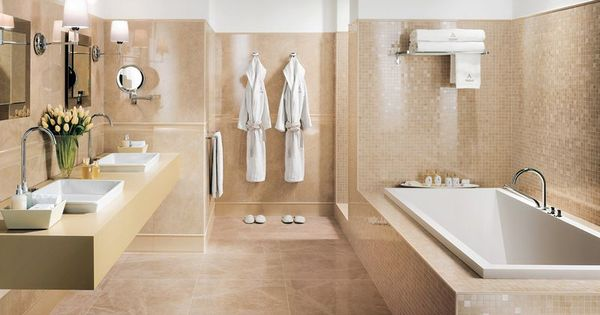badezimmer grau beige spektakul re tapete f r badezimmer. Black Bedroom Furniture Sets. Home Design Ideas