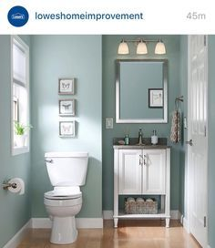 Sherwin Williams Worn Turquoise Small Bathroom Colors Bathroom Wall Colors Small Bathroom Paint