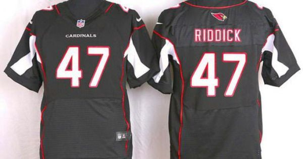 Jerseys NFL Wholesale - Arizona Cardinals #47 Shaq Riddick Black Alternate NFL Nike Elite ...
