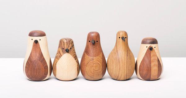 wooden bird decor from old furniture | designer lars beller fjetland