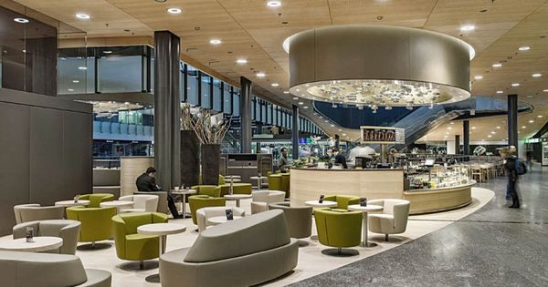 Fernweh bar by detail design gmbh zurich airport for Interior design zurich