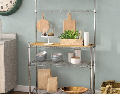 Project Tidy Enos Steel Chrome Baker S Rack In 2020 Bakers Rack