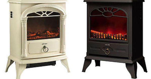 New Wood Burner Log Effect Electric Fire Free Standing