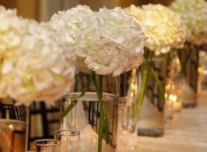 Hydrangeas are a great high impact low budget flower you for Arreglos florales para boda en jardin