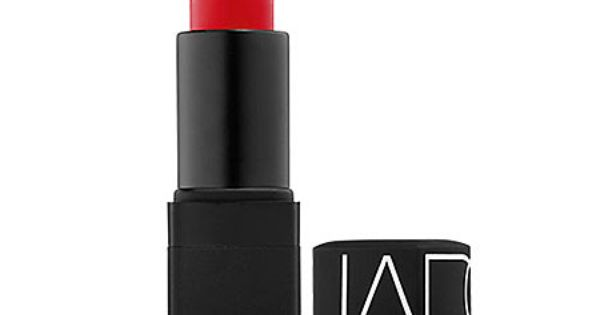 NARS Lipstick in Heat Wave. A creamy, bright red lipstick with orange