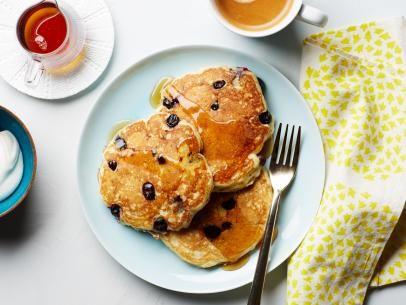 Blueberry Cake With Lemon Mascarpone Cream Recipe Blueberry Buttermilk Pancakes Food Network Recipes Pancake Recipe Buttermilk