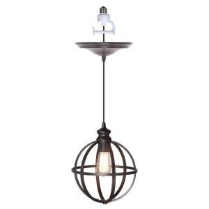 Worth Home Products Instant Pendant 1 Light Recessed Light Conversion Kit Brushed Bronze Globe Cage Shade Pbn 4034 0011 Screw In Pendant Light Pendant Light Recessed Light Conversion Kit