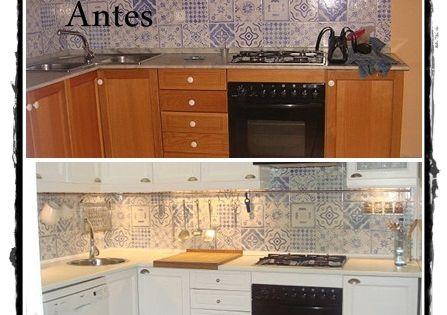 Antes y despues de pintar los muebles de cocina cocinas - Pintar muebles de cocina antes y despues ...