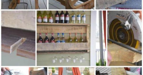 Estanteria de botellas de vino con palet palet vino - Estanterias de vino ...