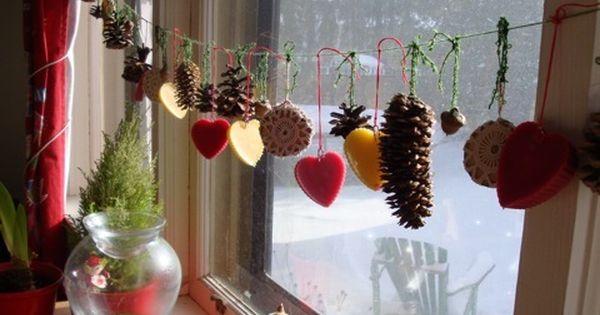 weihnachtliche fensterdekoration dekoration wohnen kueche weihnachtsdekoration pinterest. Black Bedroom Furniture Sets. Home Design Ideas