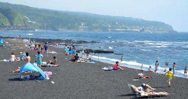 伊豆大島の風景 リアルタイム 弘法浜遊泳場