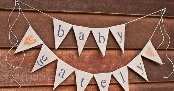 burlap baby banner large custom surname banner baby shower photo