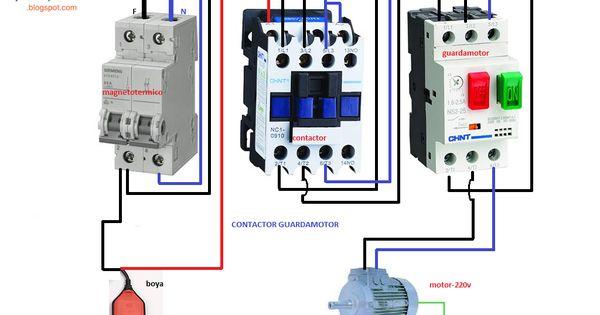 Motor Monofasico Contactor Guardamotor Mas Boya Motores Esquemas Electricos Esquemas