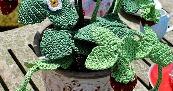 Crochet Patterns To Donate : Strawberry Plant - Moochka-free pattern. Donations for Breast Cancer ...