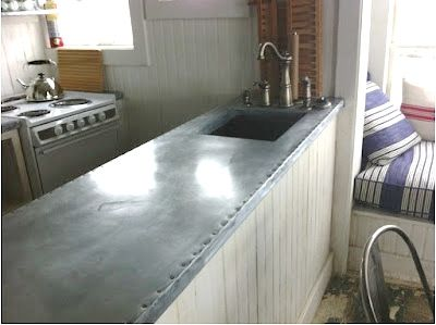 My Latest Obsession Zinc Countertops Home Metal Countertops