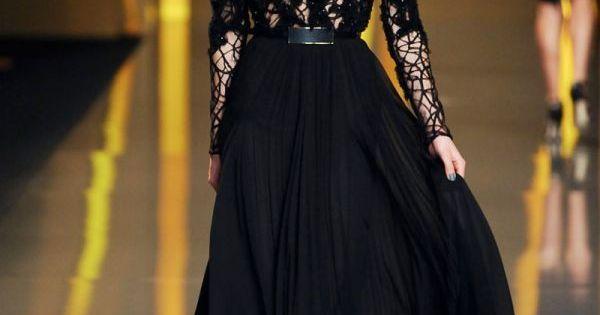 Elie saab fall winter rtw fur 2015 2016 fashion trends 2014 2015