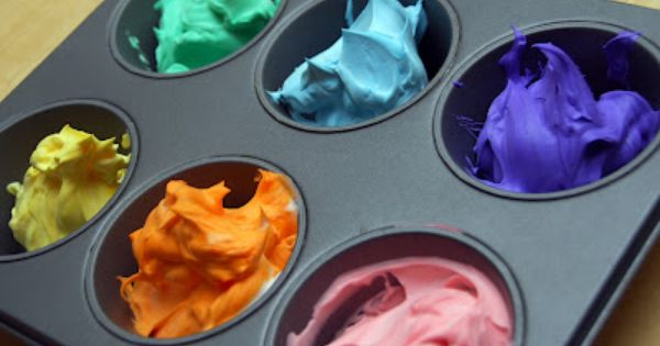 Add Food Coloring To Shaving Cream And Let Your Kids Paint