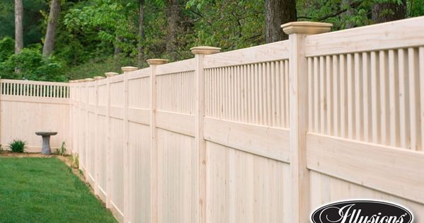 V3701 6 6 High T Amp G Vinyl Privacy Fence In Grand Illusions