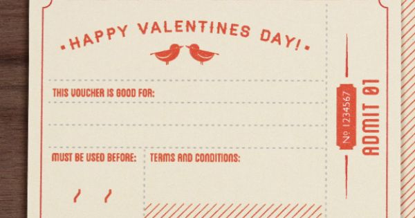 Printable fill-in-the-blank Valentine's Day coupons (with ...