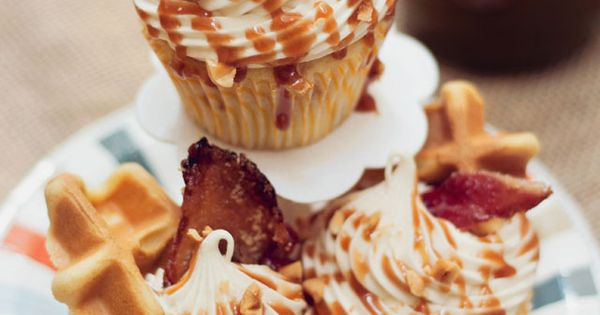 Bacon Hazelnut Cupcake w/ Amaretto-Maple Frosting and Bourbon Caramel - Previous pinner
