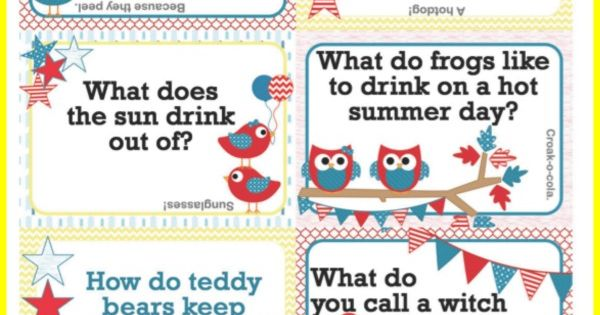 Add these free printable Summer Lunch Box Jokes to your ...