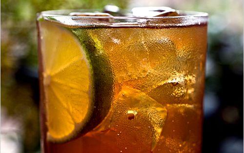 Cooling summer cocktail. Italia Libera (white rum, amaro, lemon juice, simple syrup,