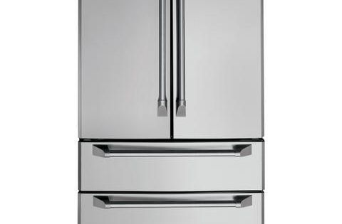 Zfgp21hzss Ge Monogram 20 6 Cu Ft French Door Two Drawer Free Standing Refrigerator Stainless Ste French Door Refrigerator Refrigerator Monogram Appliances