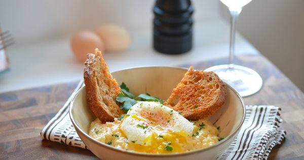 ... Grits with Poached Egg | Recipe | Grits, Poached Eggs and Cheesy Grits