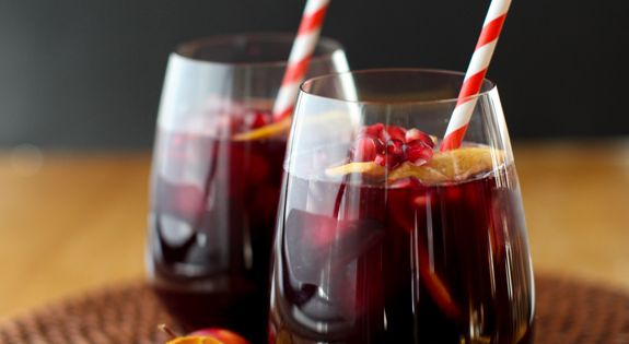 Cocktails & Drinks | Winter Sangria with Citrus and Pomegranate