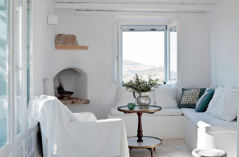 White Living Room Furniture Ideas – Greek Island Edition | Top Home