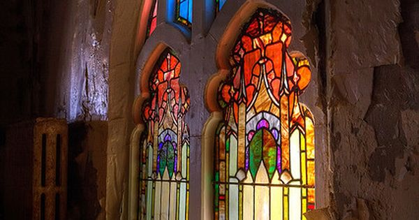 Stainglass in abandoned church