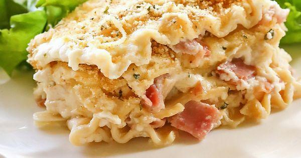 Chicken Cordon Bleu Lasagna Recipe Side Salad Sauces And Chicken Cordon Blue