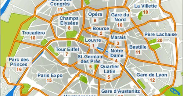 Arrondissements Of Paris Paris Honeymoon Paris Hotels Paris Map