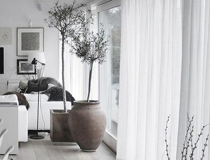 Cortinas blancas cortinas pinterest cortinas blancas for Cortinas blancas salon