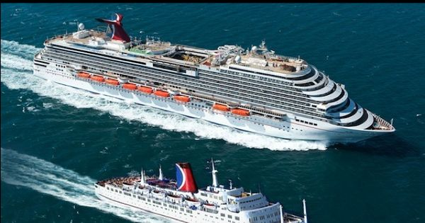 Carnival Magic Next To The Carnival Mardi Gras Cool Cruise Pics Pinterest Cruises Cruise