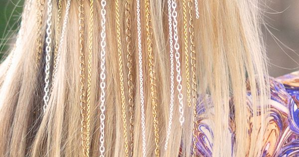 DIY chain headband- blonde hair by ...love Maegan, via Flickr. This is