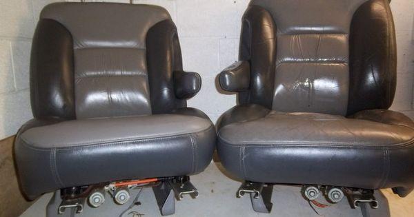 1995 1996 1997 1998 1999  2000 Gmc Yukon Denali Driver And Passenger Leather Bucket Seats