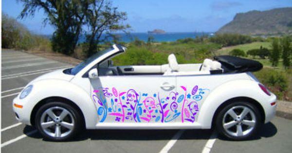 vw beetle mini corsa  colour vinyl car decal graphics vinyl car decals car decals  beetle