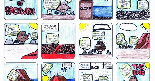 Rock Cycle Science Comic Strip Examples