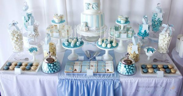 Baby Baptism Gift Ideas Pinterest : Blue christening first birthday party planning ideas