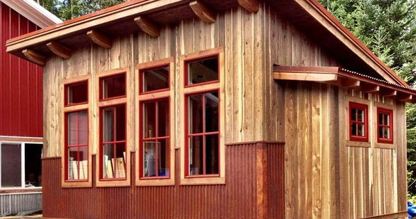 Shed roof cottages 1 shed pinterest cabin lofts for Shed roof cabin with loft