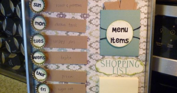 What a cute idea for a weekly menu planner!